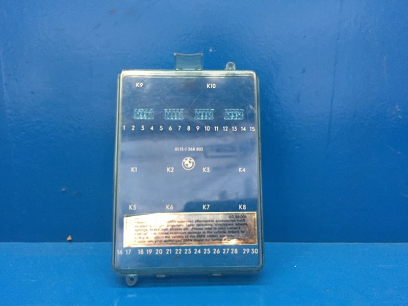 E30 Fuse Box Lid : Autobahn parts electrical bmw e series oem fuse box