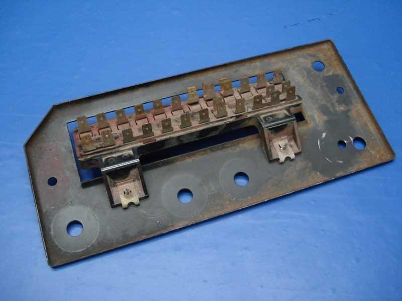 autobahn parts electrical porsche 914 oem fuse box panel bracket 914 612 315 10